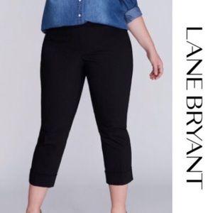 Lane Bryant The Lena Cropped Black Dress Pants 14
